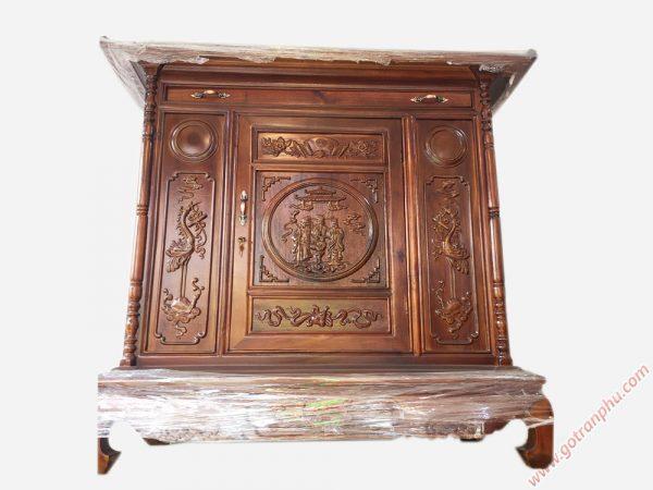 Tủ thờ gỗ xoan đào 1m27 - 1m54 - 1m75 (1)