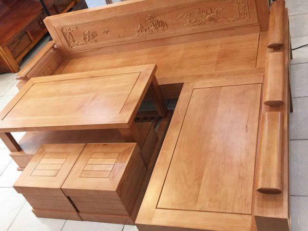Bộ sofa góc gỗ bích mặt liền SF025 (5)