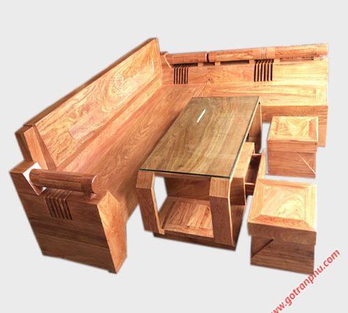 Bộ sofa góc gỗ cẩm lai Nam Phi SF026