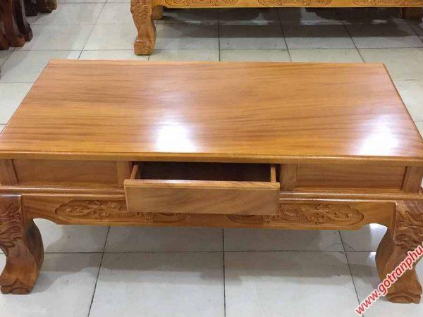Salon gỗ gõ đỏ chạm rồng bát tiên tay 12 mặt liền tấm SA031 (4)