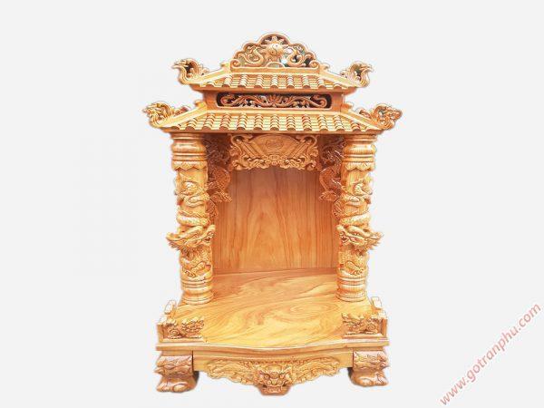 Trang thờ ông địa gỗ gõ đỏ mái ngói ngang 60cm OD018 (1)