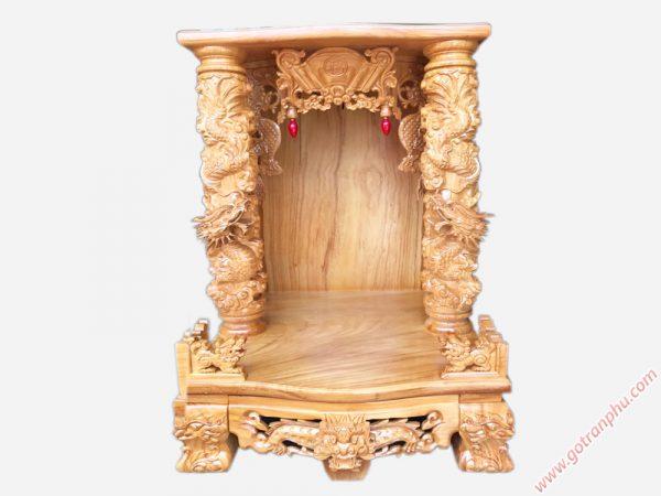 Trang thờ gỗ gõ đỏ chạm rồng nổi (không đèn) ngang 70cm OD017 (1)