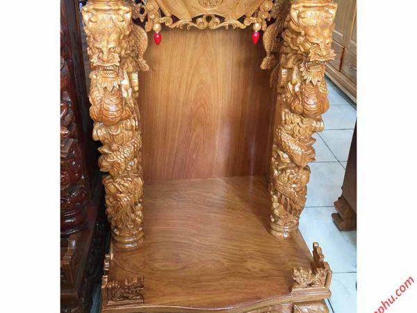 Trang thờ chạm rồng nổi gỗ gõ đỏ OD024-25 (1)
