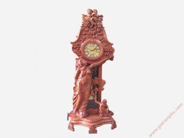 Đồng hồ đứng cô tiên gỗ cẩm lai (11)