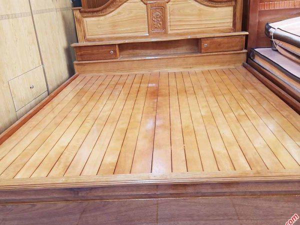 Giường ngủ gỗ căm xe có hộc đầu giường 1m6 - 1m8 (3)
