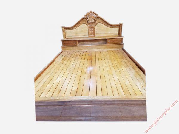Giường ngủ gỗ căm xe có hộc đầu giường 1m6 - 1m8 (6)