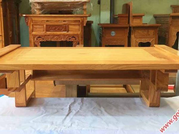 Mâm treo tường gỗ gõ đỏ trơn ngang 80cm - 1m07 (1)