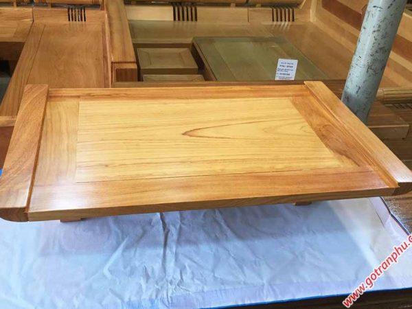 Mâm treo tường gỗ gõ đỏ trơn ngang 80cm - 1m07 (2)