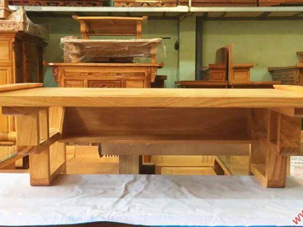 Mâm treo tường gỗ gõ đỏ trơn ngang 80cm - 1m07 (3)