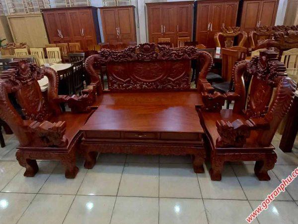 Salon gỗ cẩm lai tay 12 chạm rồng bát tiên (2)