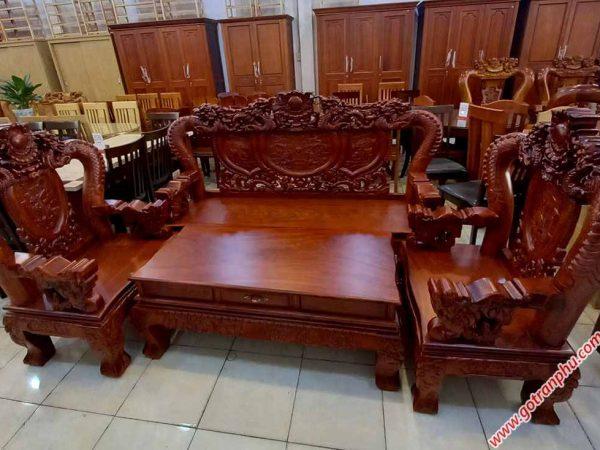 Salon gỗ cẩm lai tay 12 chạm rồng bát tiên (4)