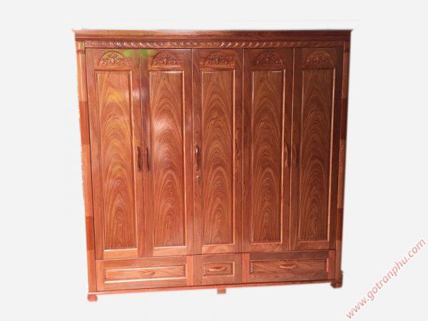 Tủ gỗ hương đá cao cấp 5 cánh TA001 (2)
