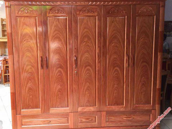 Tủ gỗ hương đá cao cấp 5 cánh TA001 (3)