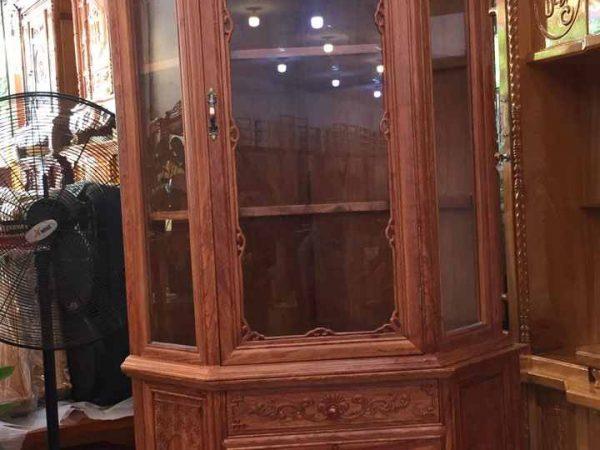 Tủ rượu góc gỗ cẩm lai ngang 80cm TR007 (3)