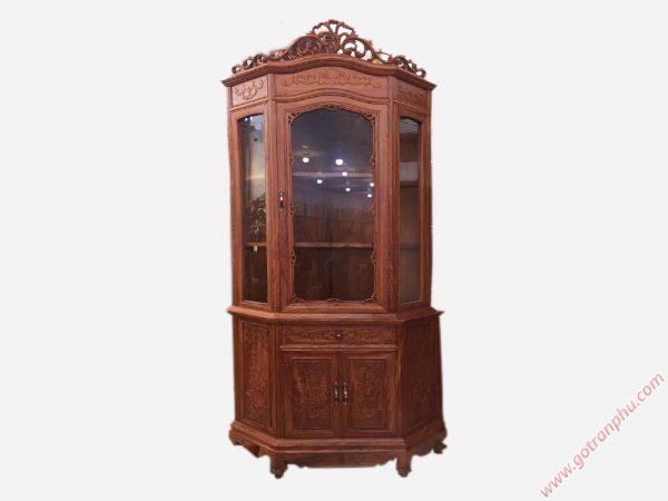 Tủ rượu góc gỗ cẩm lai ngang 80cm TR007 (4)