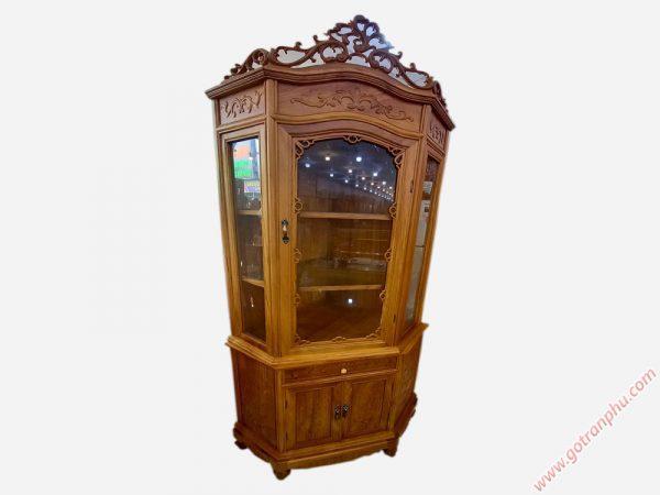Tủ rượu góc gỗ gõ đỏ ngang 80cm TR006 (2)