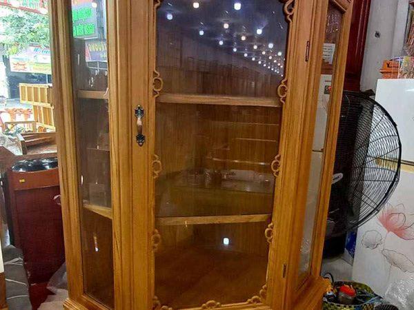 Tủ rượu góc gỗ gõ đỏ ngang 80cm TR006 (3)