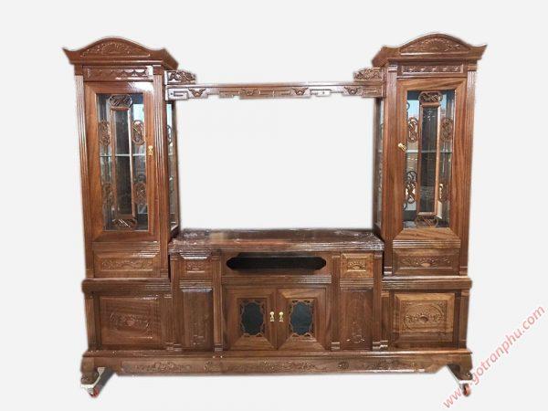 Tủ tivi phòng khách gỗ xoan đào 2m4 KT009 (7)