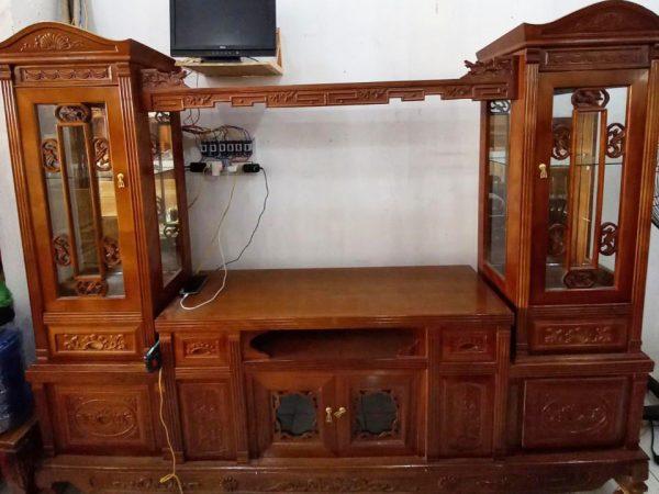 Tủ tivi phòng khách gỗ xoan đào 2m4 KT009 (8)