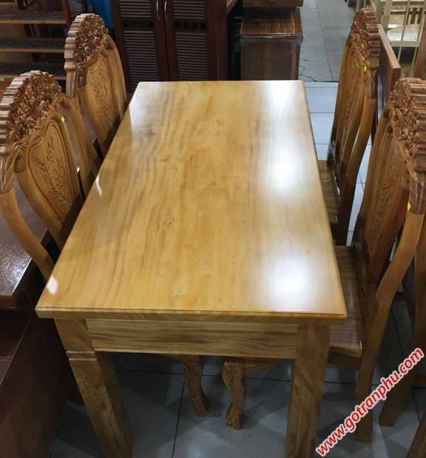 Bộ bàn ăn gỗ gõ đỏ 4 ghế Louis BA025 (1)