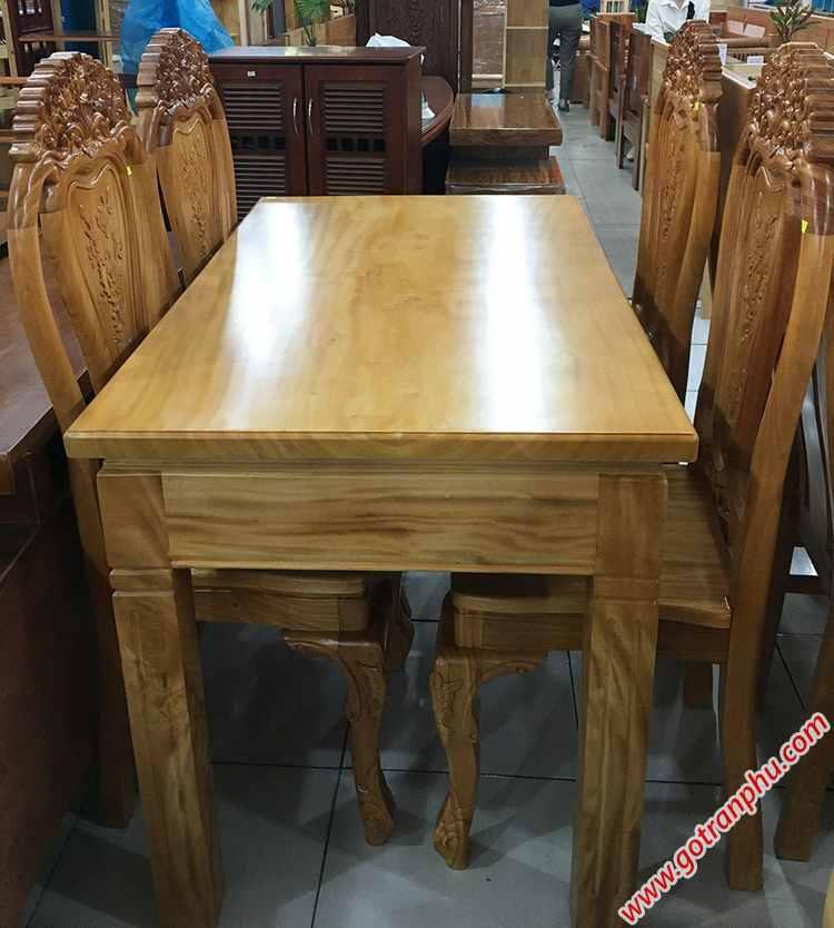 Bộ bàn ăn gỗ gõ đỏ 4 ghế Louis BA025 (4)