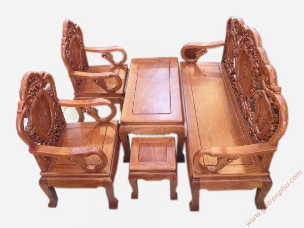 Salon gỗ cẩm lai kiểu chuông đào SA039 (1)