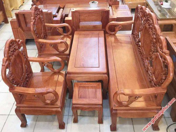 Salon gỗ cẩm lai kiểu chuông đào SA039 (3)