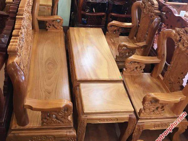 Salon gỗ gõ đỏ tay 10 chạm rồng bát tiên SA035 (4)