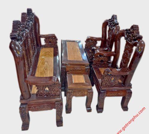 Salon tay 12 gỗ xoan đào hoa lá tây SA029