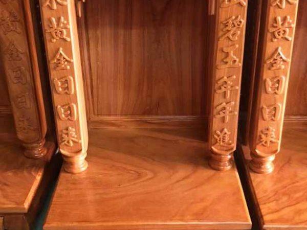 Trang thờ ông địa gỗ gõ đỏ 48cm cột vuông OD028 (1)