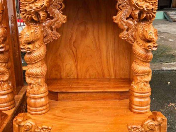 Trang thờ ông địa gỗ gõ đỏ 60cm rồng cuộn OD027 (1)
