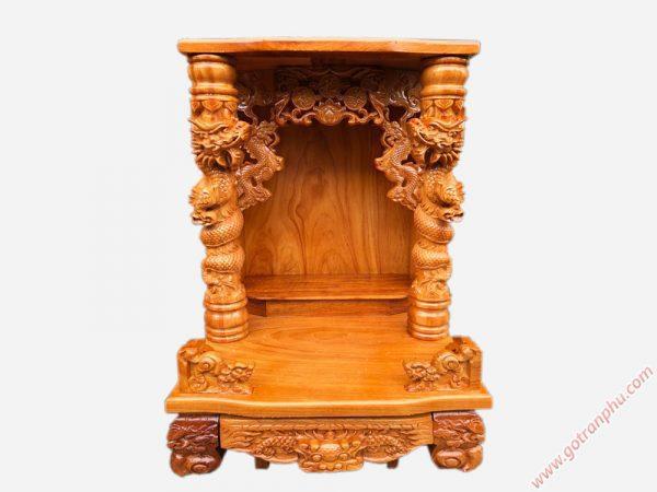 Trang thờ ông địa gỗ gõ đỏ 60cm rồng cuộn OD027 (2)