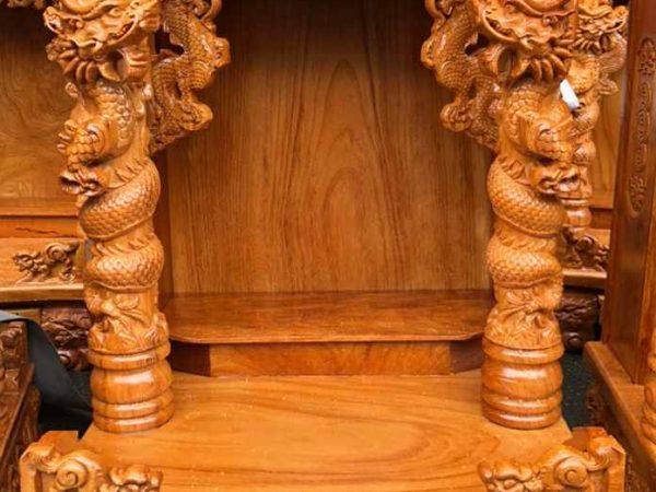 Trang thờ ông địa gỗ gõ đỏ 60cm rồng cuộn OD027 (3)