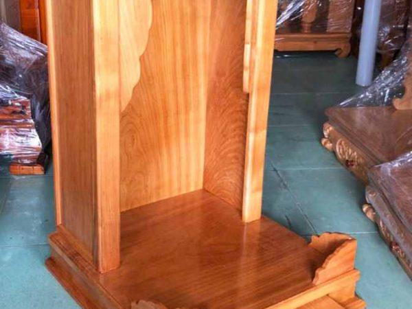 Trang thờ ông địa gỗ gõ đỏ không cột (trơn) 48cm OD032 (2)