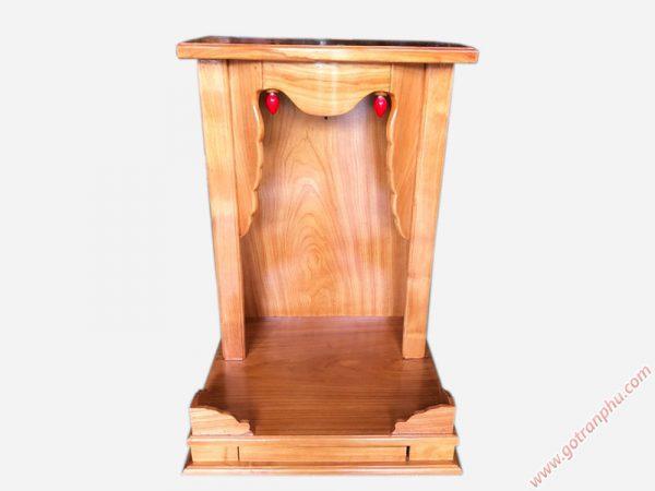 Trang thờ ông địa gỗ gõ đỏ không cột (trơn) 48cm OD032 (3)
