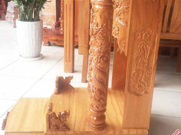 Trang thờ ông địa gỗ gõ đỏ không đèn OD015 (6)