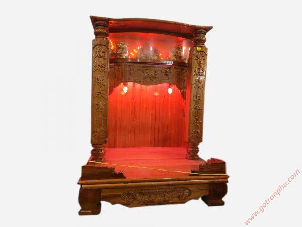 Trang thờ trụ vuông xoan đào có đèn ngang 60cm (2)