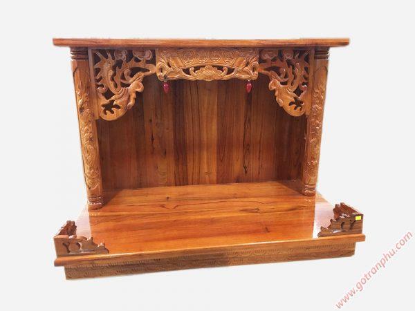 Trang treo có mái gỗ xoan đào ngang 60cm - 80cm - 107cn (2)