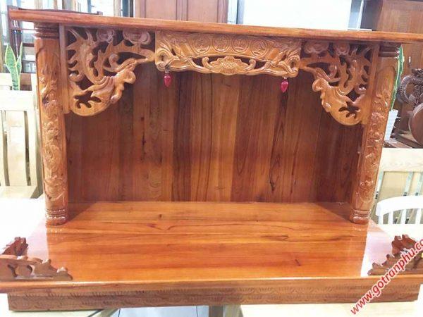 Trang treo có mái gỗ xoan đào ngang 60cm - 80cm - 107cn (3)