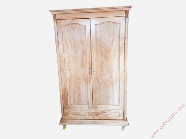 Tủ áo gỗ gõ đỏ 2 cánh 1m2 TA045 (2)