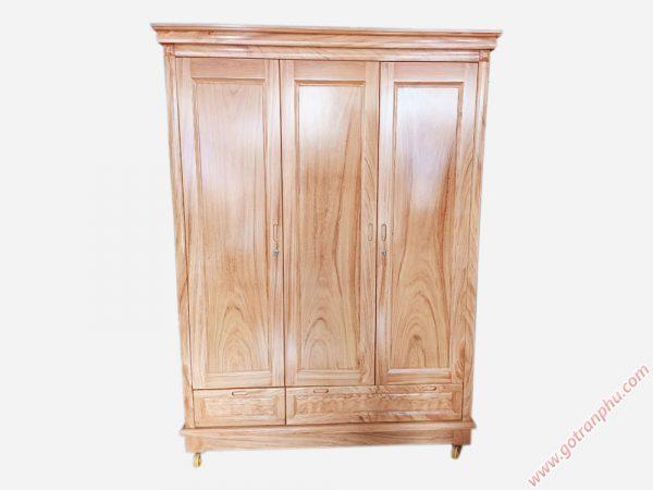 Tủ quần áo gỗ gõ đỏ 3 cánh 1m6 TA046 (2)