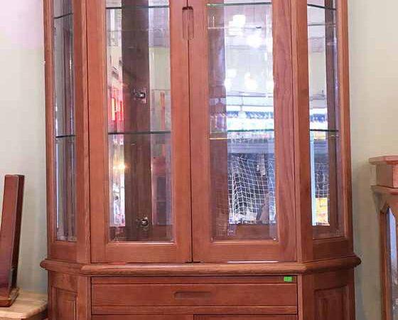 Tủ rượu lục giác gỗ sồi ngang 1m - 1m2 (3)