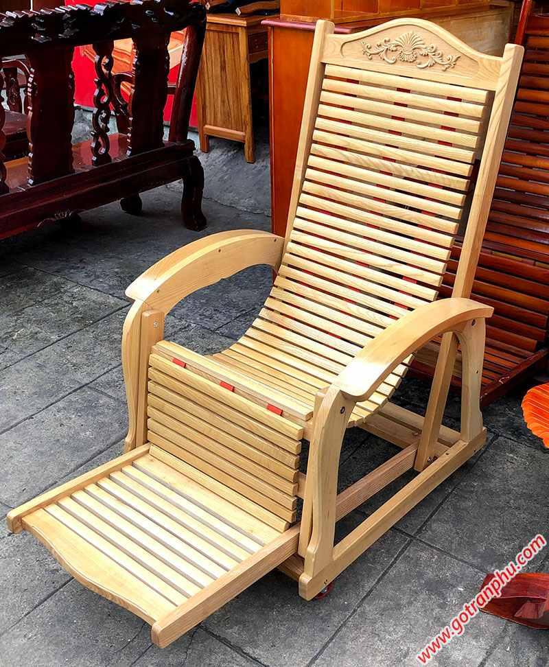 Ghế nằm thư giãn gỗ sồi GH020 (3)