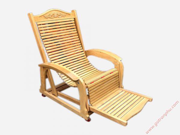 Ghế nằm thư giãn gỗ sồi GH020 (4)