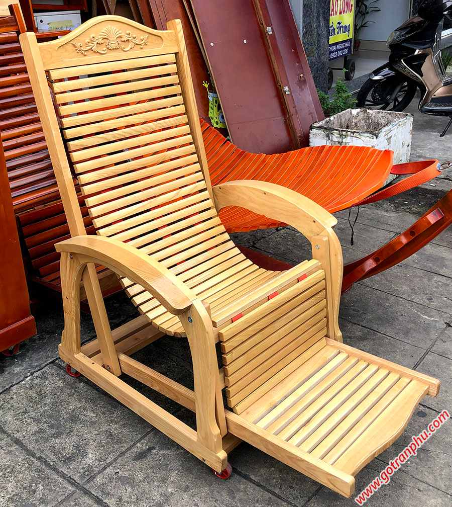 Ghế nằm thư giãn gỗ sồi GH020 (5)