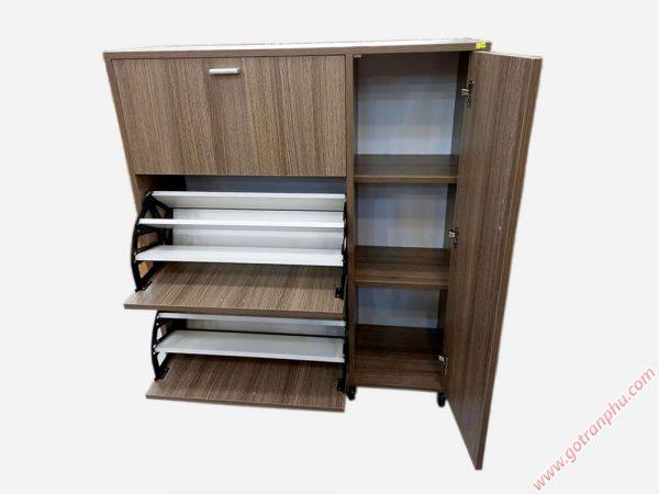 Tủ giày thông minh gỗ Melamine ngang 80cm - 1m - 1m2 (3)