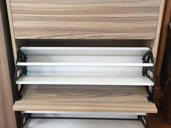 Tủ giày thông minh gỗ Melamine ngang 80cm - 1m - 1m2 (4)