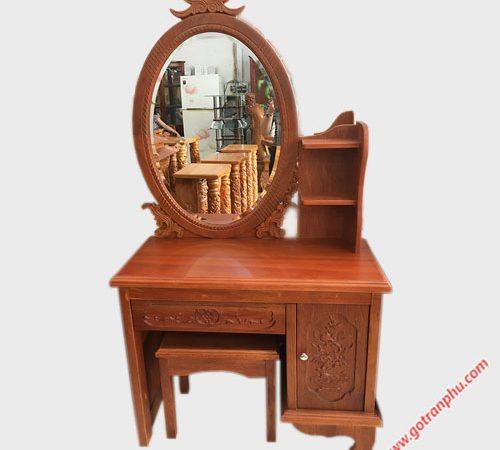 Bàn trang điểm gỗ căm xe 80cm - 1m1 BT015-016 (1)