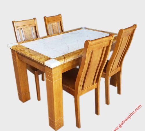 Bộ bàn ghế ăn mặt đá 4 ghế 1m4 (6)
