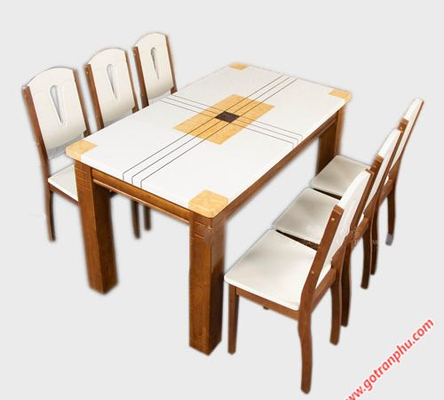 Bộ bàn ghế ăn mặt đá 6 ghế 1m6 BA034 (5)